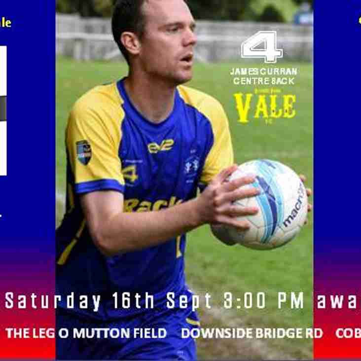 Next Game - Cobham FC Away Sat 16th 3:00pm