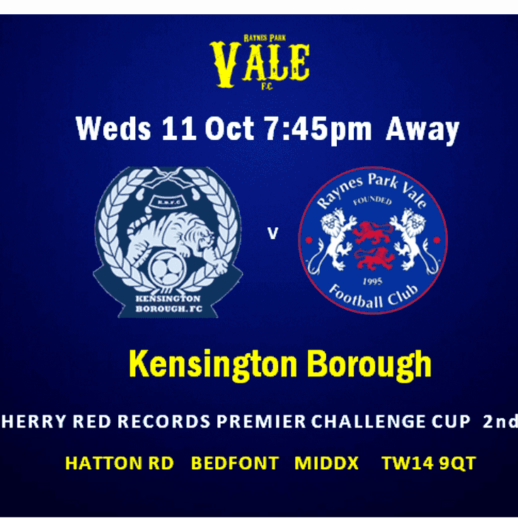 Kensington Borough Away in Cup