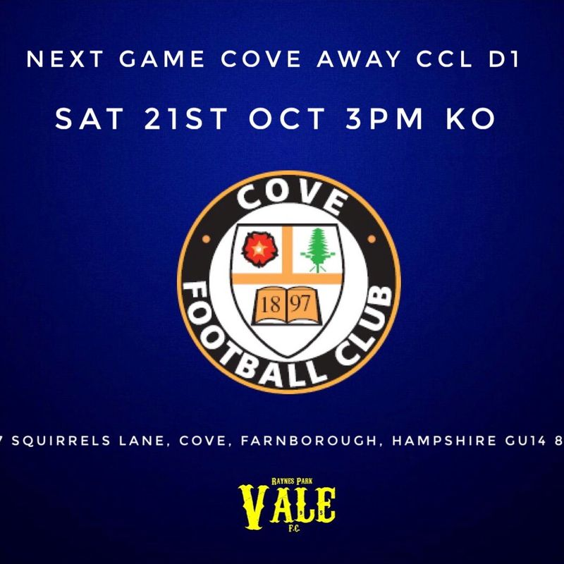 First Team beat Cove 0 - 3