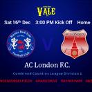 AC London 3pm Sat 16th Dec. Home