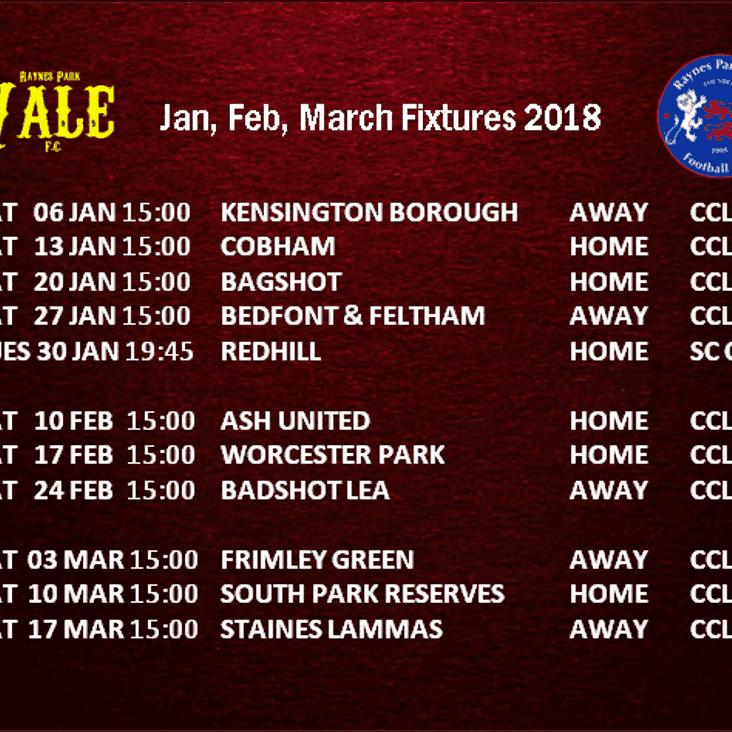 Fixtures 2018
