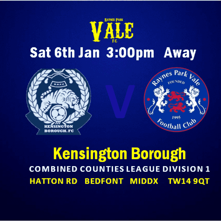KENBO Away -Sat 6th 3pm