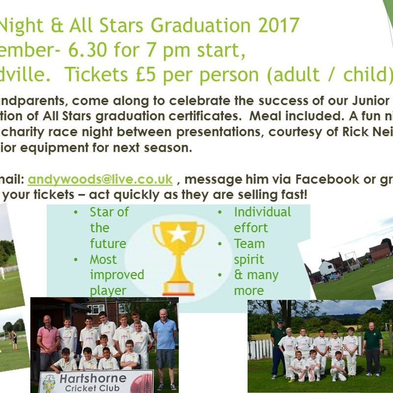 Junior Awards Night & All Stars Graduation 2017