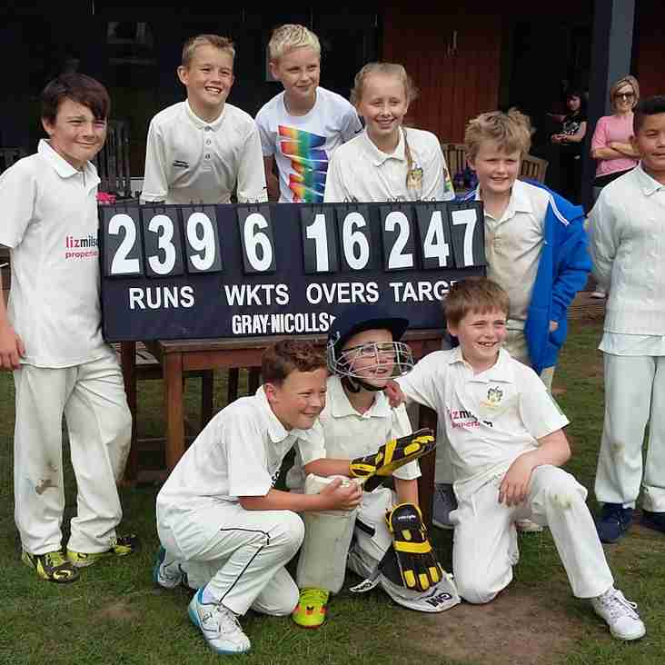 Lively last over sees Under 11s gain a good win against Etwall