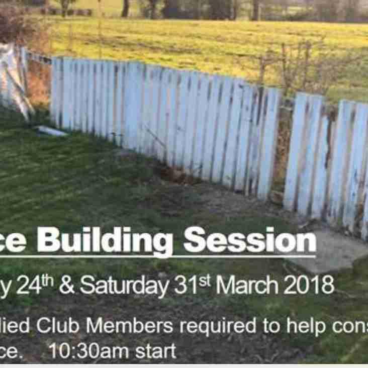 Fence Re- build Volunteers needed