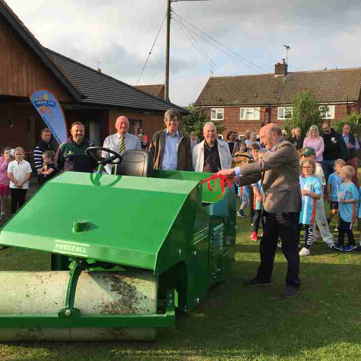 Official unveiling of Rita our new Grounds Roller!