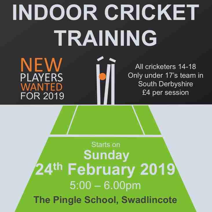 HCC under 17s winter training starts 24th February!