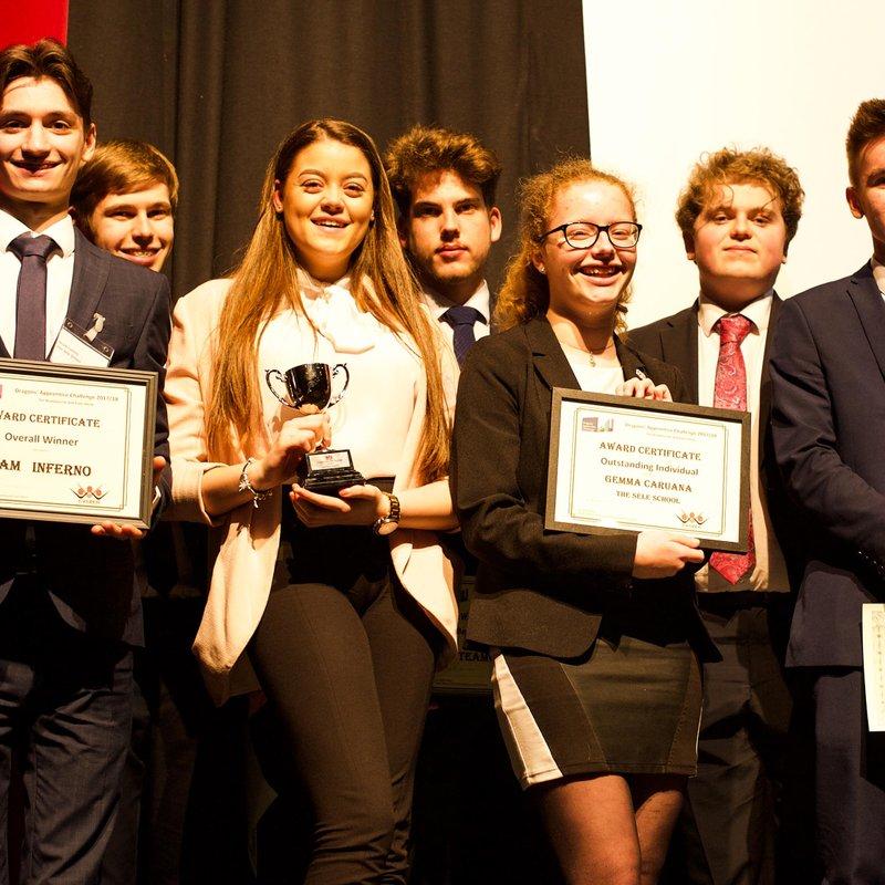 Sele School Wins Dragons' Apprentice Challenge 2018!