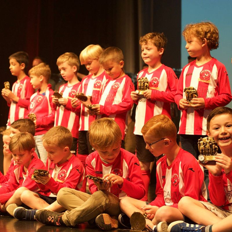 Bury Rangers Presentation Day - Age Group Running Order