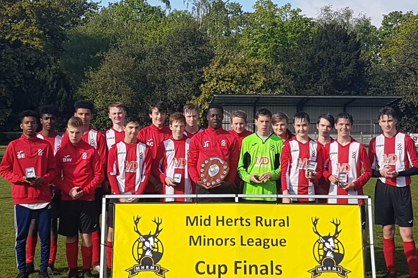 Bury Rangers U16's Whites Win League Shield
