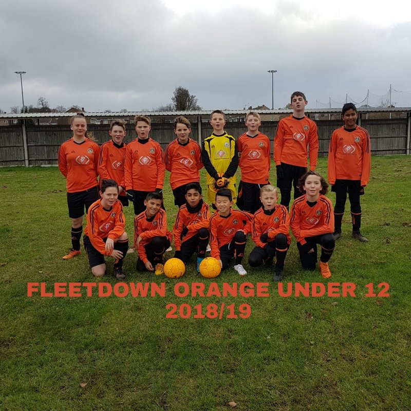 Under 12 Orange beat Baldon Sports Yellow