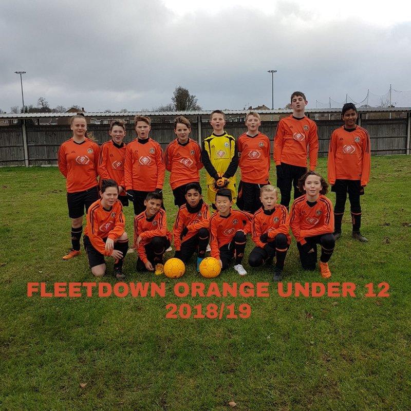 Fleetdown Orange 1 - 1 Baldon Sports Yellow