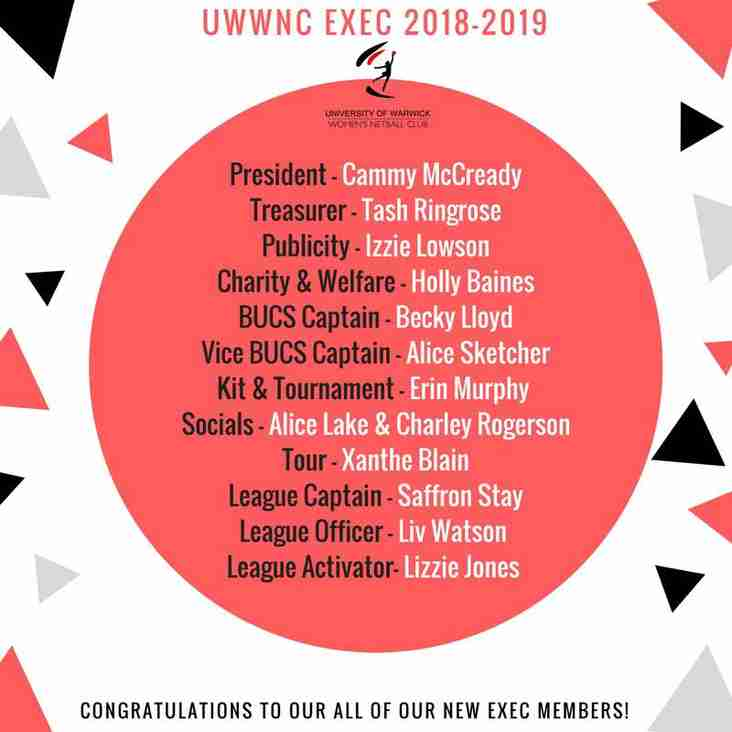 OUR NEW EXEC!
