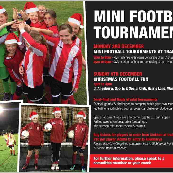 Girls Christmas Mini Football Tournament