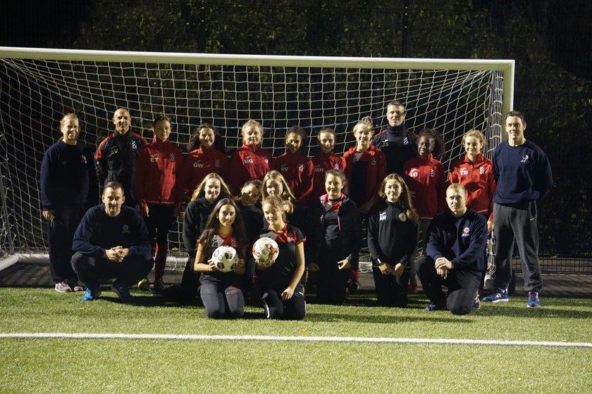 Blue Watch Hertford Fire & Rescue Service - Attends Bury Rangers Girls Training