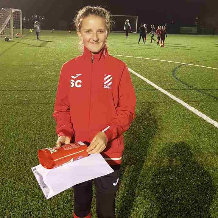 U13 Girls November Player of the Month