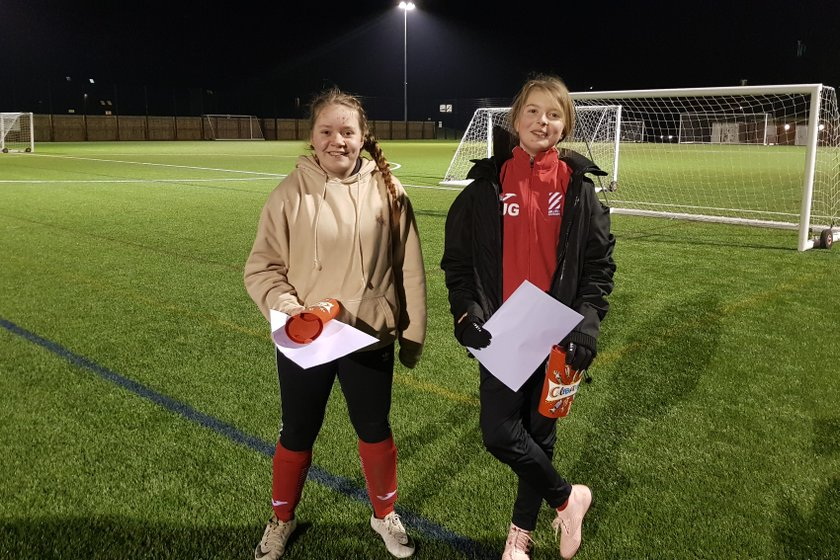 U13 Girls January Players of the Month