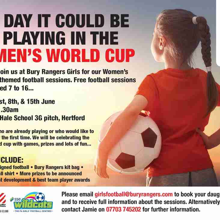 Girls World Cup Sessions - Book Now