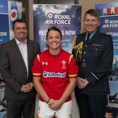 WRU and RAF welcome first professional female rugby player to their ranks