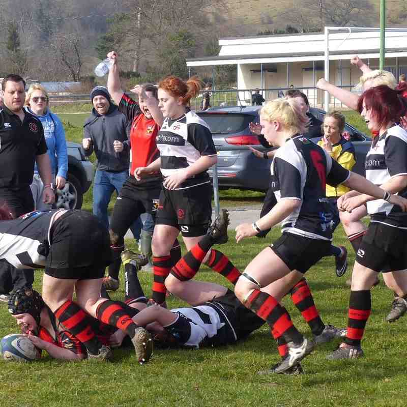 Llangollen Ladies v Mold Ladies match action by Gary Williams
