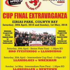 Dates and kick-off times confirmed for North Wales Cup Final Extravaganza at Parc Eirias