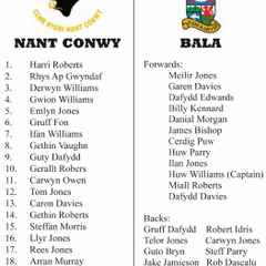 Nant Conwy Youth and Bala Youth announce squads for Youth Cup Final