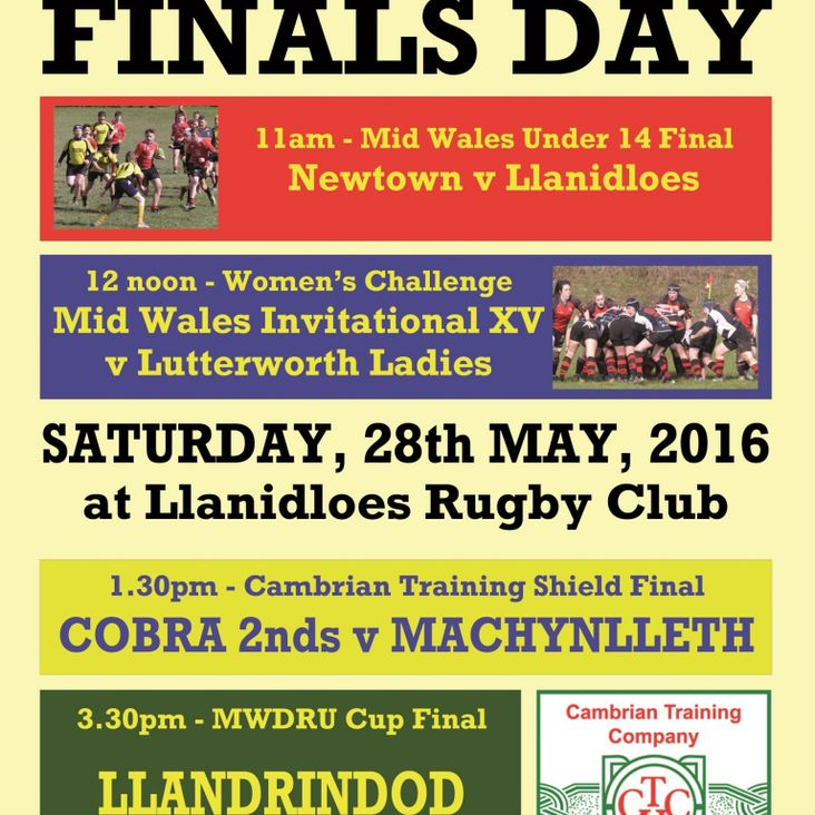 Mid Wales finals next Saturday - four games, one day! <