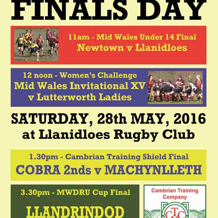 Mid Wales finals next Saturday - four games, one day!