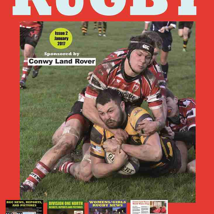 January issue of 'North and Mid Wales Rugby' magazine is out now