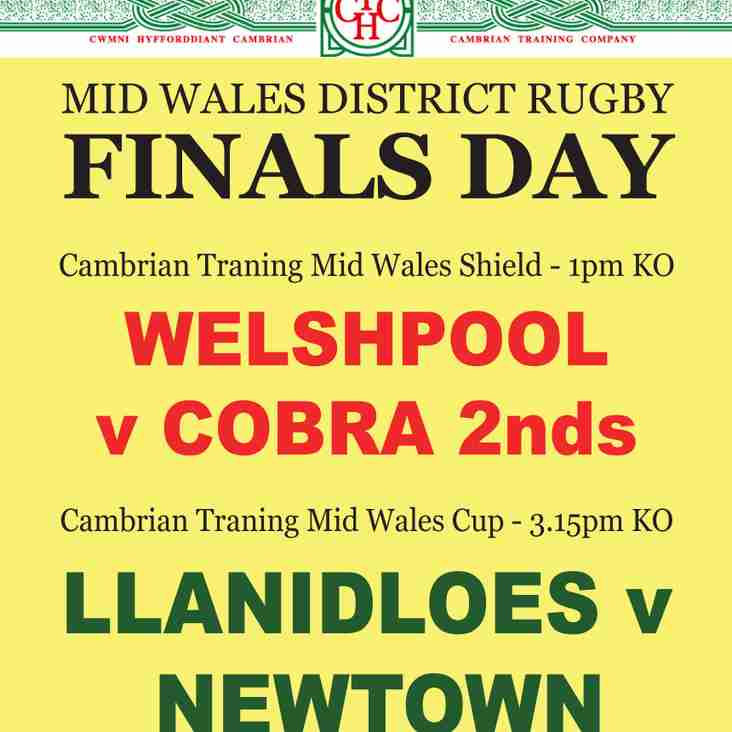 We're in the Mid Wales Shield Final next Saturday!