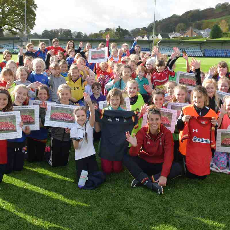 Girls Primary School Festival at Bala RFC