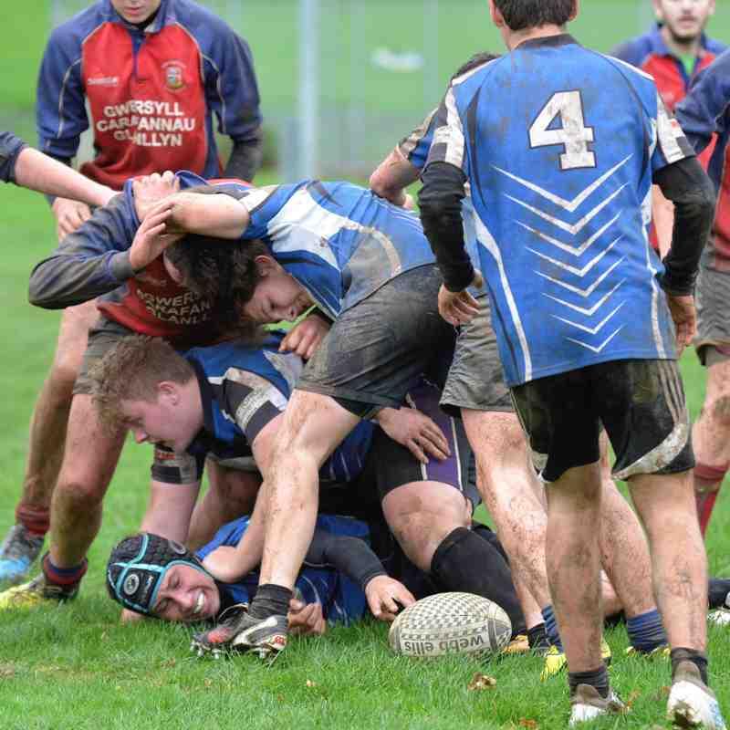 Ysgol y Berwyn Bala U16 v Ysgol Bro Hyddgen Machynlleth U16 by Trevor Edwards