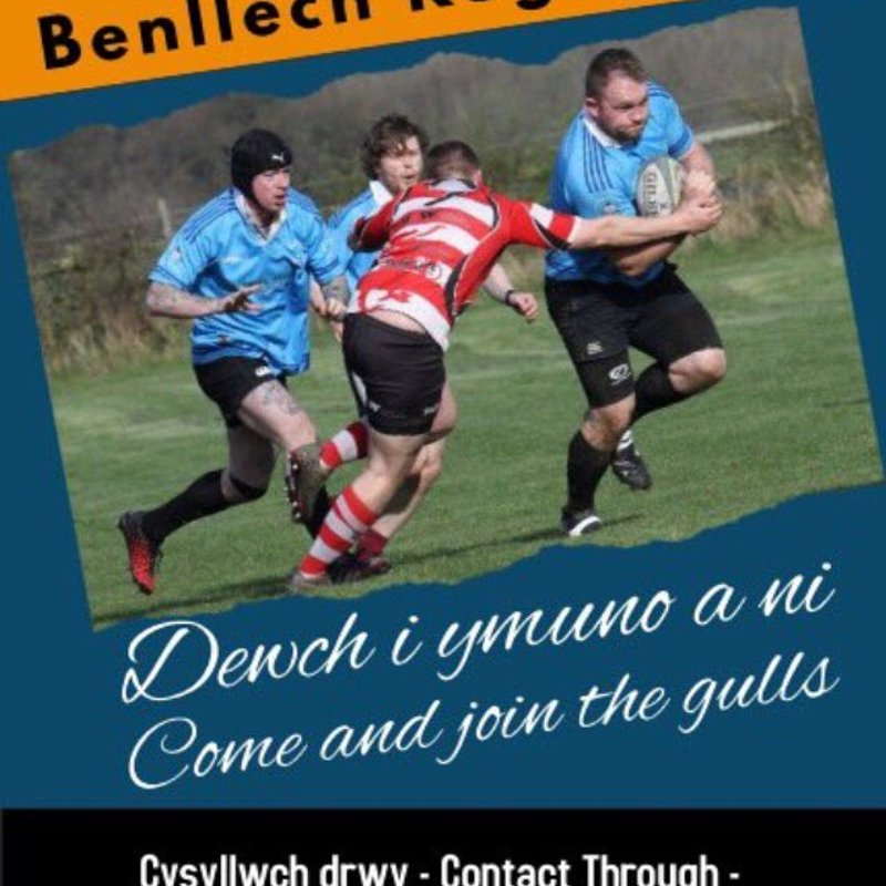 Benllech RFC training starts on July 10th and they are looking for players