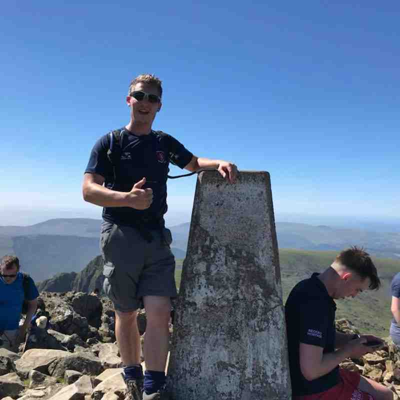 Welshpool RFC tackling Three Peaks Challenge