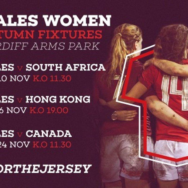 Wales Women announce Autumn schedule