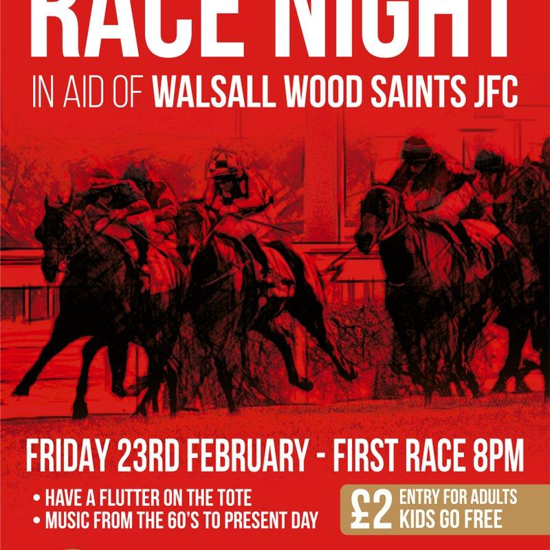 RACE NIGHT - FRIDAY NIGHT