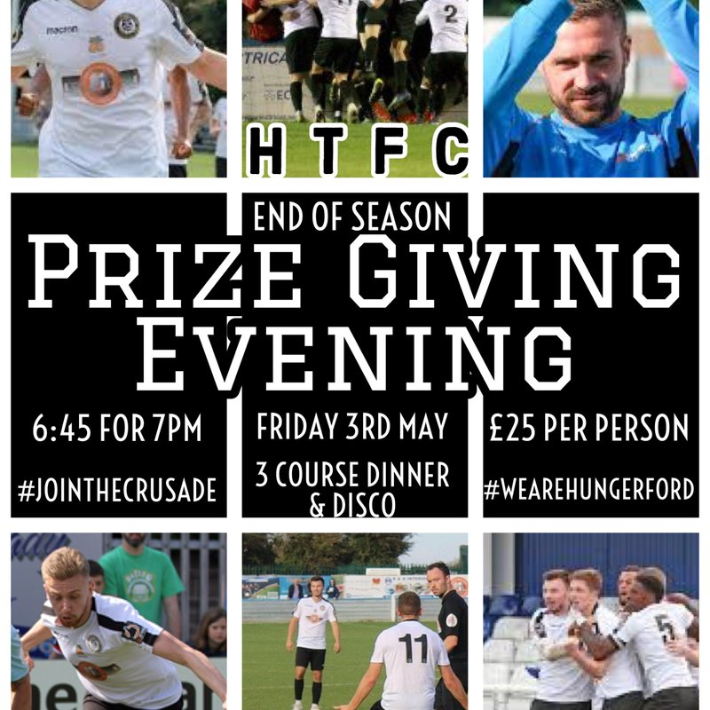 End of Season Prize Giving Evening