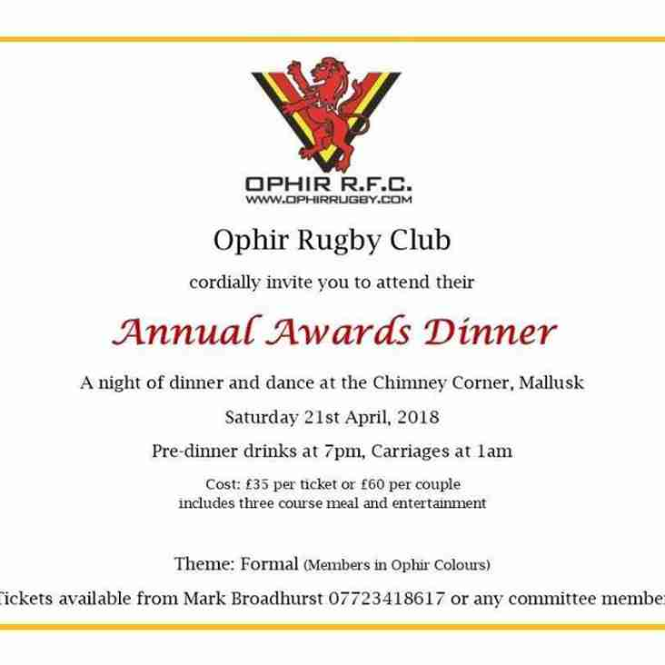 Ophir Annual Awards Dinner
