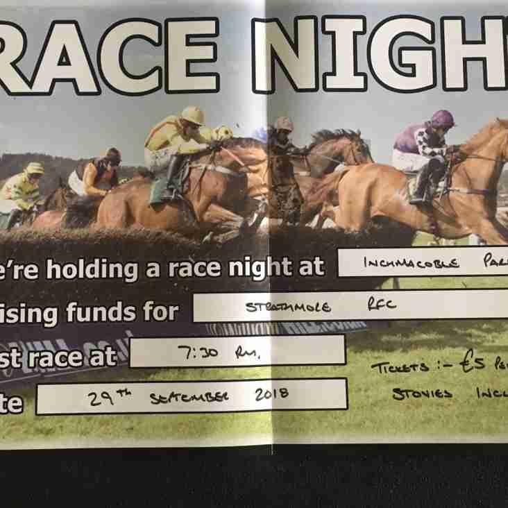 Club Fund raiser - Race Night