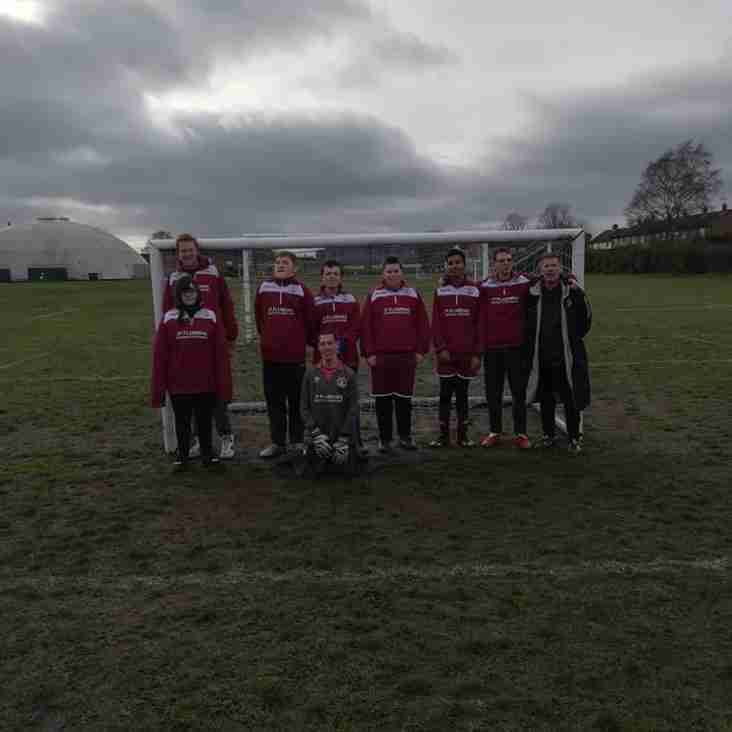 Clarets in action at Adult Disability Football Tournament