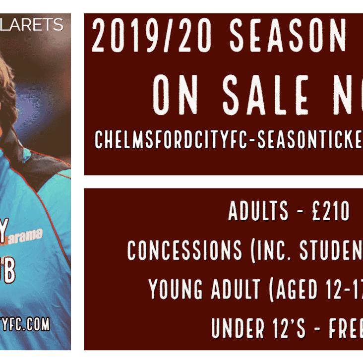 2019/20 Season Tickets