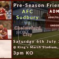 First Team beat AFC Sudbury 0 - 7