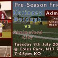 First Team beat Haringey Borough FC 0 - 7