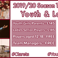 Season Ticket Offer - Youth & Ladies