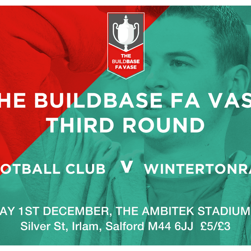 FA VASE 3RD ROUND MATCH PREVIEW  IRLAM FC V WINTERTON RANGERS FC