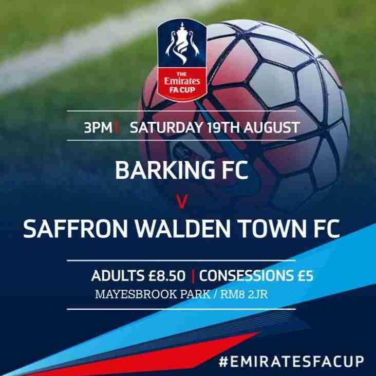 FA Cup Action Barking FC Vs Saffron Walden Town FC