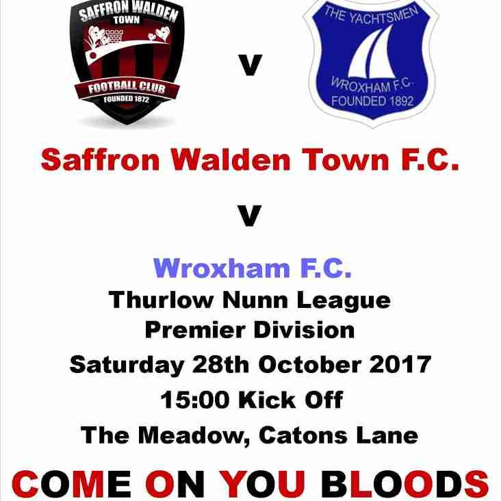 Saffron Walden Town Vs Wroxham FC