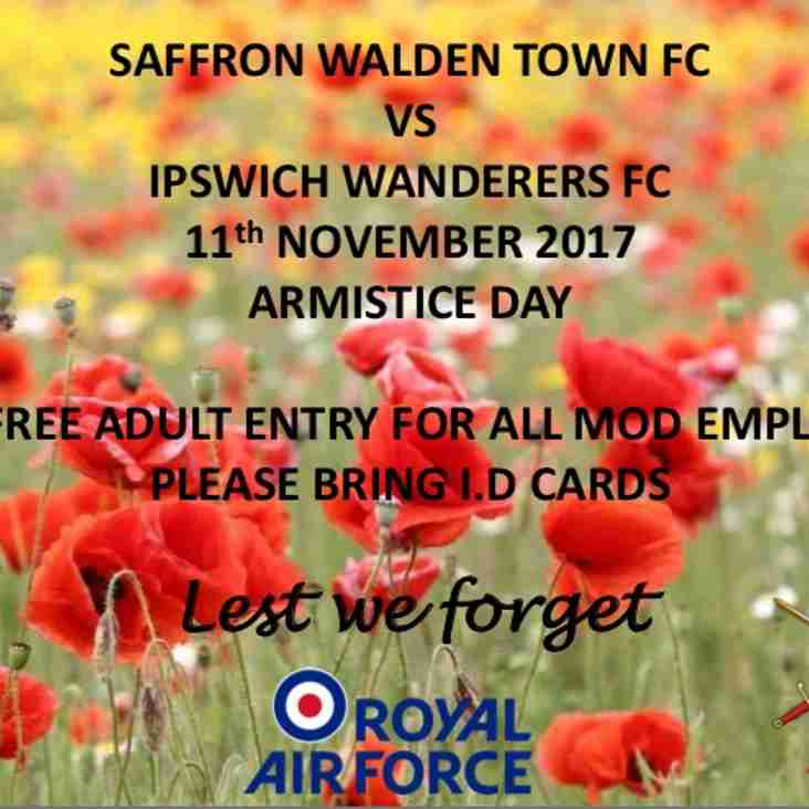 Free Entry to all MOD employees for Armistice Day