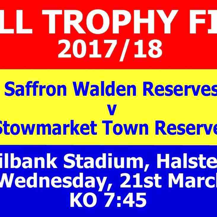 SWTFC RESERVES IN CHELL TROPHY FINAL
