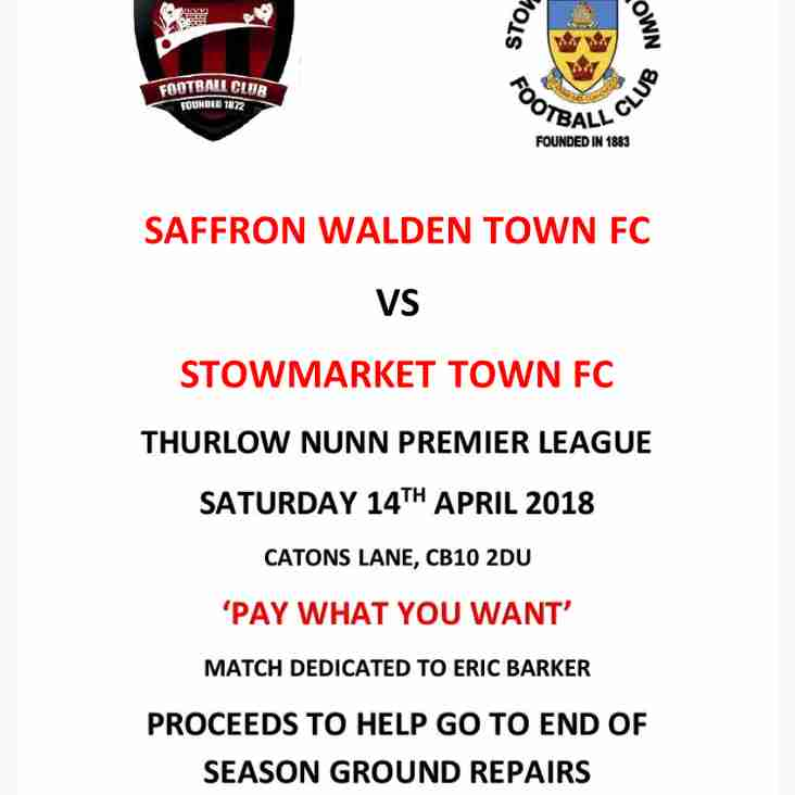 SWTFC vs Stowmarket FC - Pay What You Want
